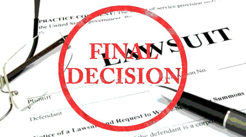 Final Court Decision