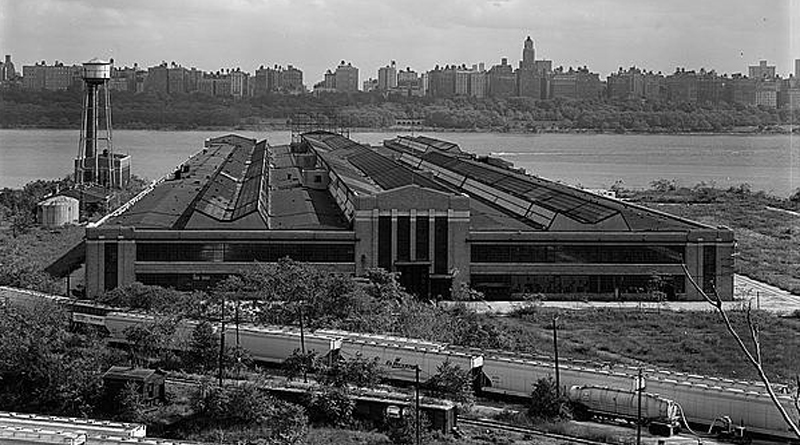 Ford Motor Assembly plant in Edgewater NJ circa 1955